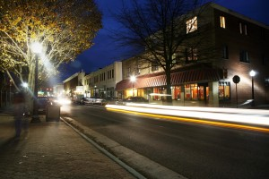 Blacksburg VA at night