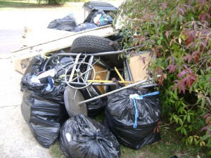 junk in drive way in conyers 300x225 Time for Fall Cleanup, Christiansburg