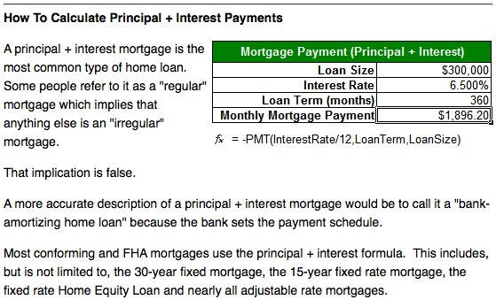 Principal and Interest Payments